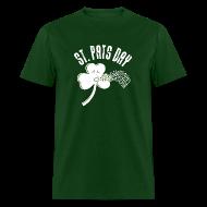 T-Shirts ~ Men's T-Shirt ~ Puking Shamrock (green)