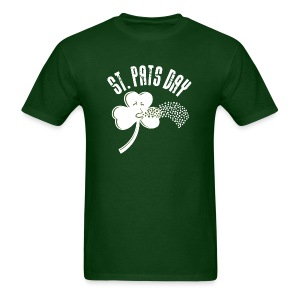 Puking Shamrock (green) - Men's T-Shirt