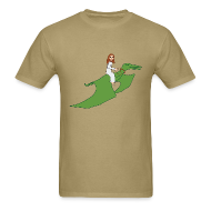 T-Shirts ~ Men's T-Shirt ~ Jesus Riding a Pterodactyl
