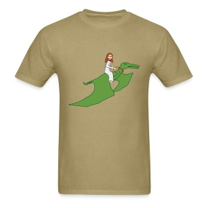 Jesus Riding a Pterodactyl - Men's T-Shirt