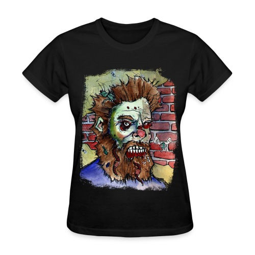 womens living dead beard zombie - Women's T-Shirt