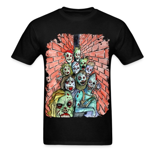 mens back alley zombie horde - Men's T-Shirt