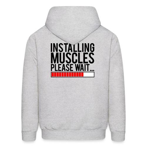 Installing muscles please wait   Mens hoodie (back print) - Men's Hoodie