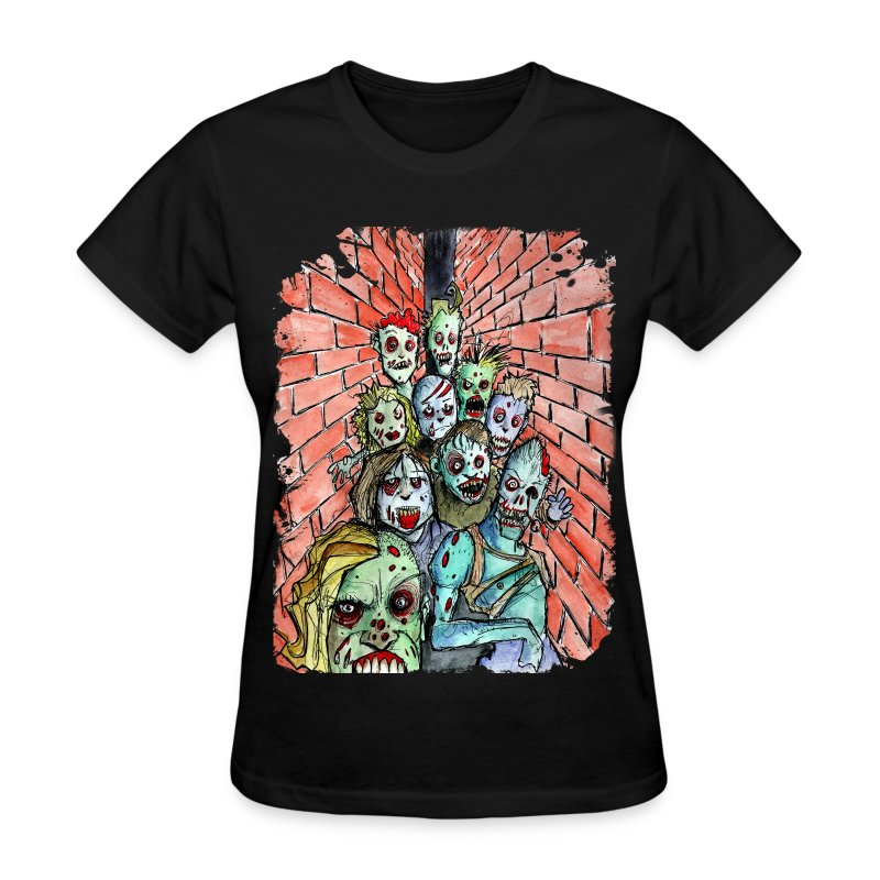 womens back alley zombie horde - Women's T-Shirt