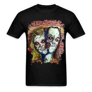mens two headed zombie - Men's T-Shirt