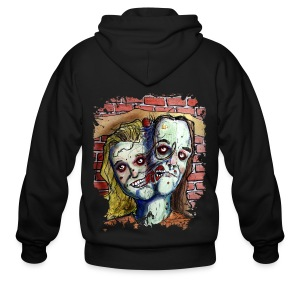 mens two headed zombie - Men's Zip Hoodie