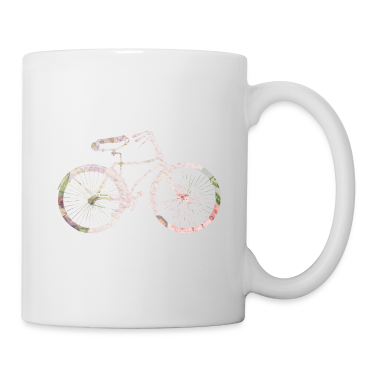 Girly Floral Bicycle Bottles & Mugs