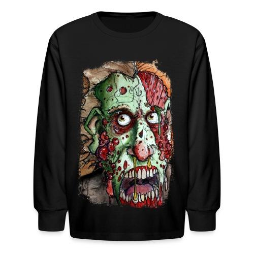 kids snot boil zombie - Kids' Long Sleeve T-Shirt
