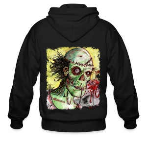 mens zombie patient - Men's Zip Hoodie