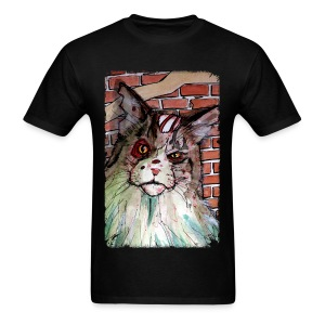 mens zombie devil cat - Men's T-Shirt