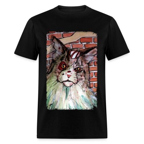 mens zombie devil cat - Men's T-Shirt