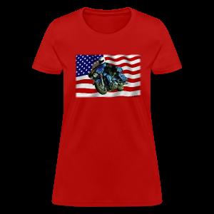 Ladies T Front FlagHD - Women's T-Shirt
