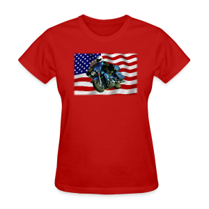 Ladies T Front FlagHD - Women's T-Shirt