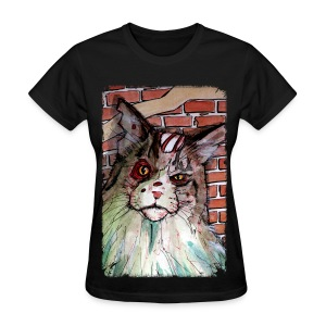 mens zombie devil cat - Women's T-Shirt