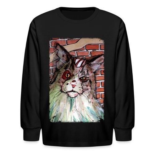 KIDs zombie devil cat - Kids' Long Sleeve T-Shirt