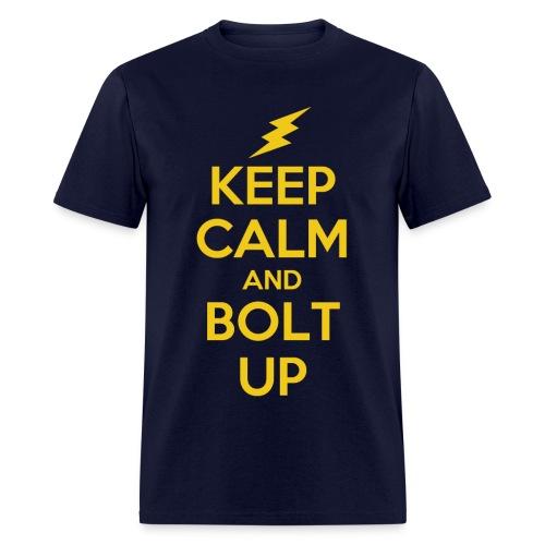 Keep Calm and Bolt Up - mens tee - Men's T-Shirt