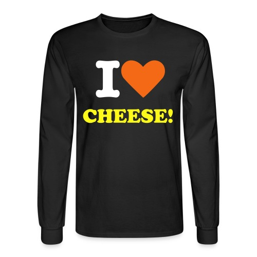 I LOVE CHEESE sweatshirt - Men's Long Sleeve T-Shirt