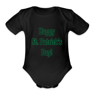 Happy St. Patricks Day - Short Sleeve Baby Bodysuit