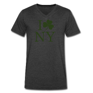 T-Shirts ~ Men's V-Neck T-Shirt by Canvas ~ I Shamrock NY