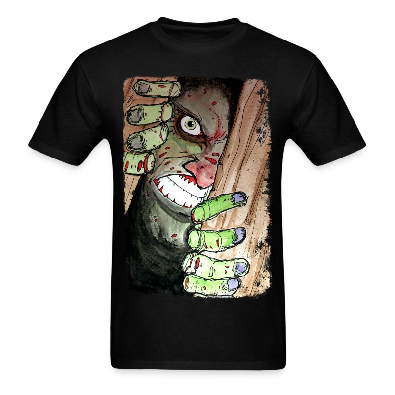 mens zombie breaking in - Men's T-Shirt