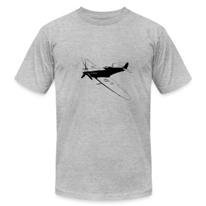 spitfire black - Men's T-Shirt by American Apparel