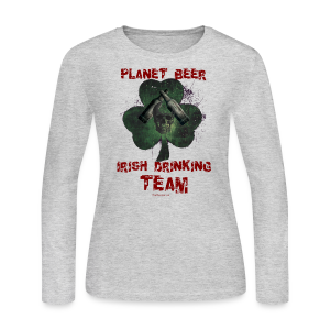 Planet Beer Irish Drinking Team Women's Long Sleeve T-Shirt - Women's Long Sleeve Jersey T-Shirt