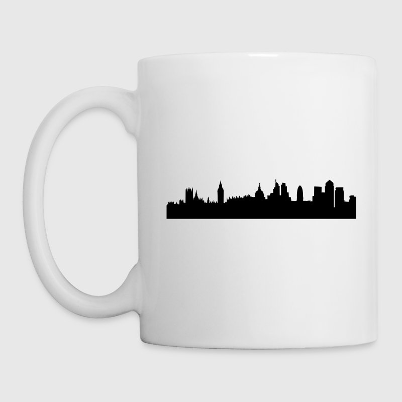 London cityscape silhouette Bottles & Mugs - Coffee/Tea Mug