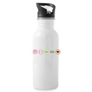 Pink Paris pattern Bottles & Mugs - Water Bottle