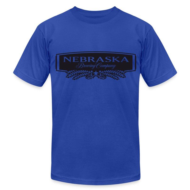 Nebraska brewing company b w logo t shirt spreadshirt for Hats and shirts with company logo