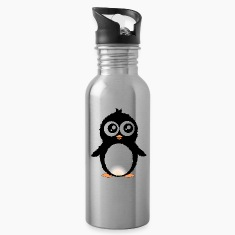 Cute penguin cartoon Bottles & Mugs