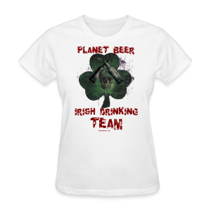 Planet Beer Irish Drinking Team Women's T-Shirt (Double Sided) - Women's T-Shirt