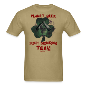 Planet Beer Irish Drinking Team Men's T-Shirt (Double Sided) - Men's T-Shirt