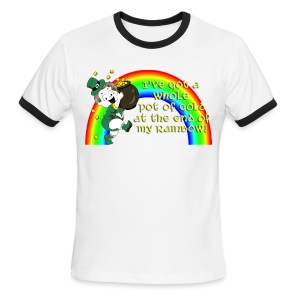 Whole Pot of Gold! [2 Sides / Text Change Available] - Men's Ringer T-Shirt