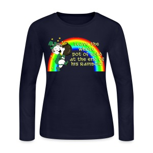 Leave the Whole Pot of Gold! [2 Sides / Text Change Available] - Women's Long Sleeve Jersey T-Shirt
