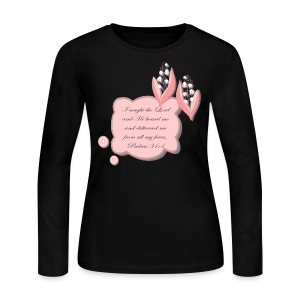 Psalm 34 womans  tshirt - Women's Long Sleeve Jersey T-Shirt