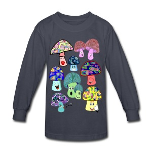 funny mushrooms kids long sleeve tshirt - Kids' Long Sleeve T-Shirt
