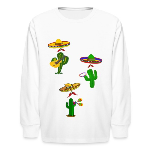 mexican musicians kids long sleeve tshirt - Kids' Long Sleeve T-Shirt