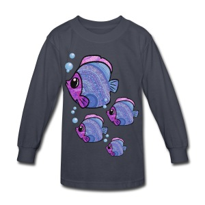 mosaic fish kids long sleeve tshirt - Kids' Long Sleeve T-Shirt