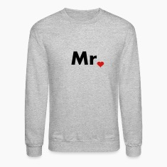 Mr with heart dot - part of Mr and Mrs set Long Sleeve Shirts