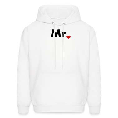 Mr with heart dot - part of Mr and Mrs set Hoodies