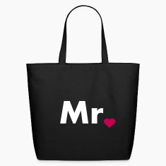 Mr with heart dot - part of Mr and Mrs set Bags