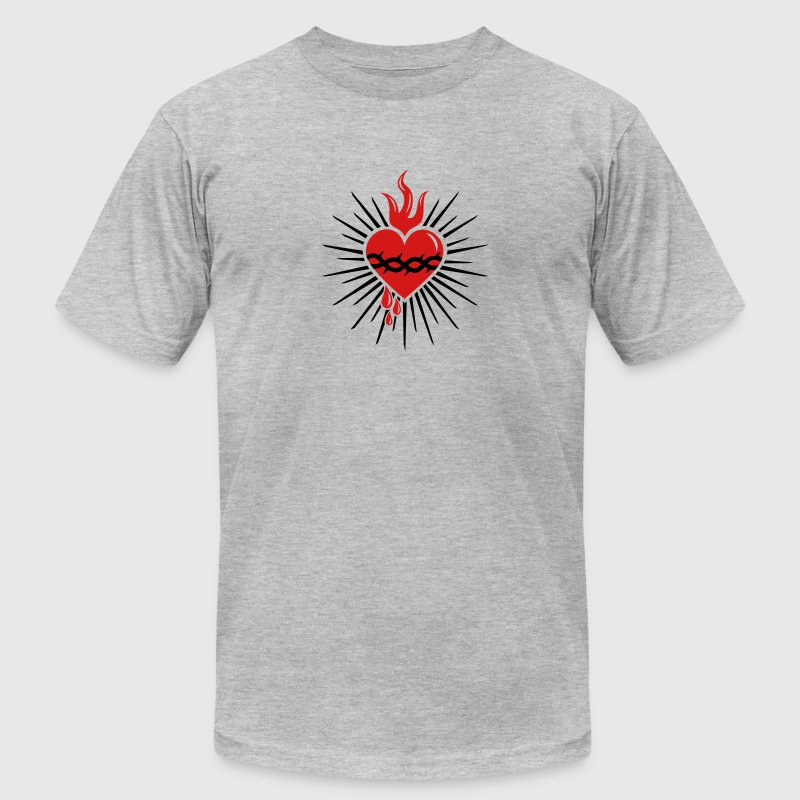Sacred Heart of Jesus -  Christ Consciousness T-Shirts - Men's T-Shirt by American Apparel