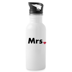 Mrs with heart dot - part of Mr and Mrs set Bottles & Mugs - Water Bottle