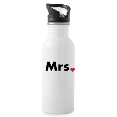 Mrs with heart dot - part of Mr and Mrs set Bottles & Mugs