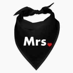 Mrs with heart dot - part of Mr and Mrs set Caps