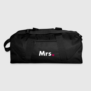 Mrs with heart dot - part of Mr and Mrs set Bags  - Duffel Bag