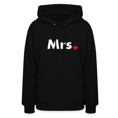 Mrs with heart dot - part of Mr and Mrs set Hoodies