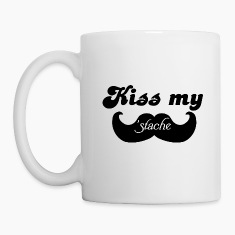 Kiss my Stache Bottles & Mugs