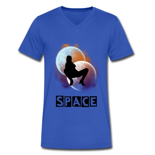SPACE - Men's V-Neck T-Shirt by Canvas