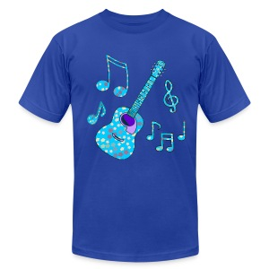 stars and guitar men's tshirt - Men's T-Shirt by American Apparel